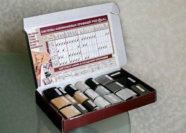 Коробки с образцами профиля Premial®