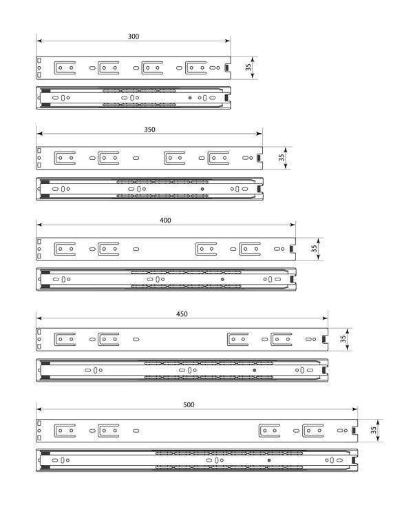 Схема направляющих SPU 45 Premial ®